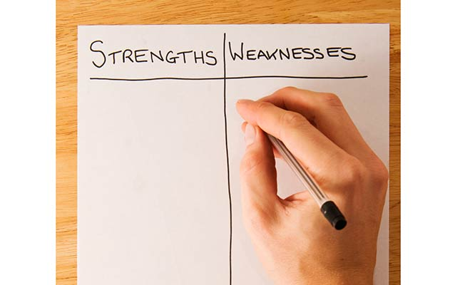 Recognize Your Weaknesses